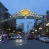 The Gaslamp District in San Diego's downtown area.